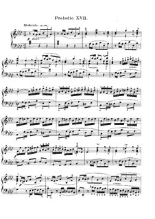 Prelude and Fugue No.17 in A Flat Major, BWV 862: Para Piano by Johann Sebastian Bach