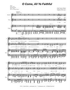 O Come All Ye Faithful: Duet for soprano and tenor solo (with accompaniment track) by John Francis Wade