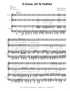 O Come All Ye Faithful: Duet for soprano and alto solo (with accompaniment track) by John Francis Wade