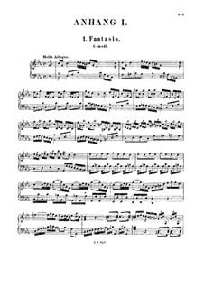Fantasia in C Minor (Supplement), BWV Anh.86: para cravo by Johann Sebastian Bach