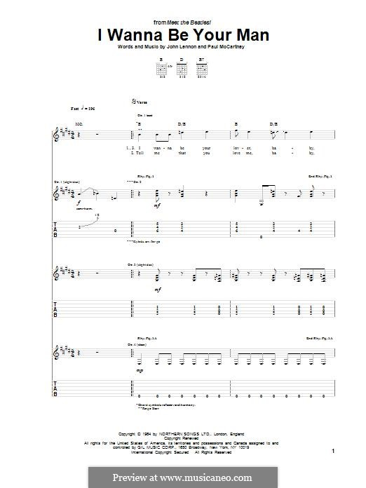 I Wanna Be Your Man (The Beatles): Para guitarra com guia by John Lennon, Paul McCartney