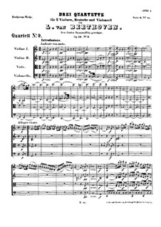 String Quartet No.9 in C Major, Op.59 No.3: Partitura completa by Ludwig van Beethoven