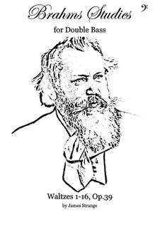 Complete set: Arrangement for double bass by Johannes Brahms