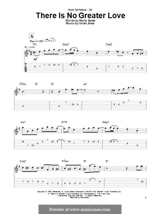 There Is No Greater Love: Para guitarra com guia by Marty Symes