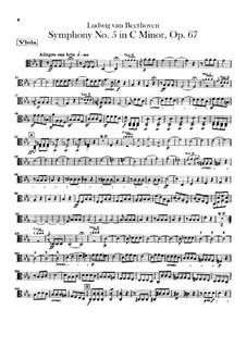 Complete Symphony: parte violas by Ludwig van Beethoven