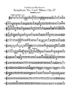 Complete Symphony: parte trompetas by Ludwig van Beethoven