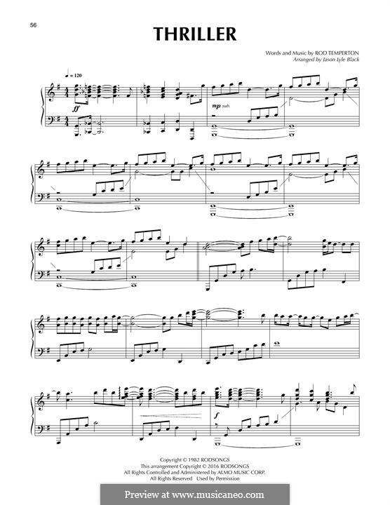 Vocal-instrumental version: Para Piano by Rod Temperton