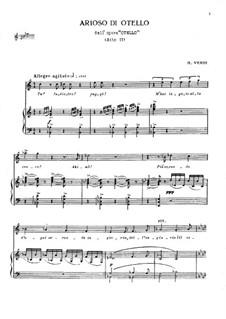 Otello: Tu! Indiero! fuggi! Arioso di Otello by Giuseppe Verdi