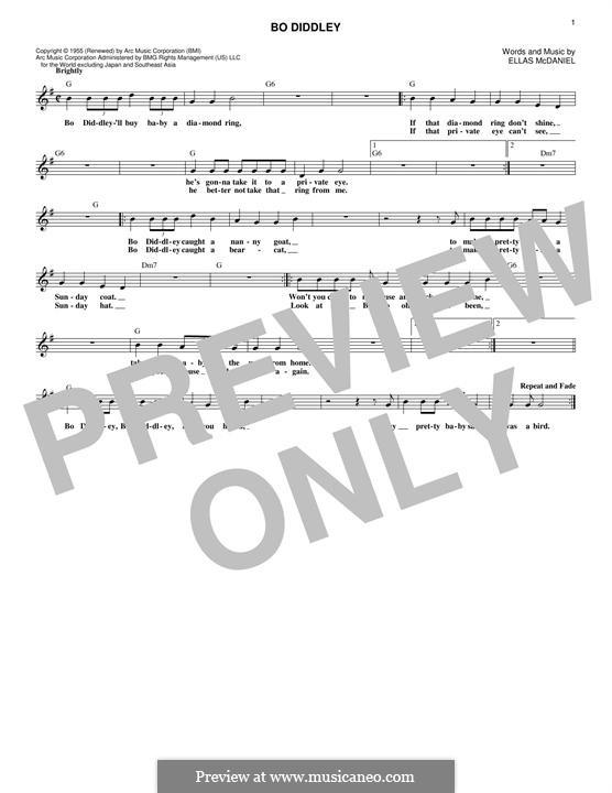 Bo Diddley (Bo Diddley): melodia by Ellas McDaniel