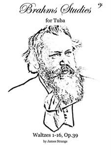 Complete set: Arrangement for tuba by Johannes Brahms