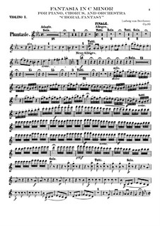Fantasia in C Minor, Op.80: violino parte I by Ludwig van Beethoven