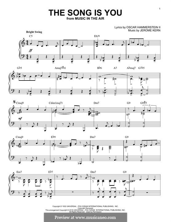 The Song is You: Para Piano by Jerome Kern