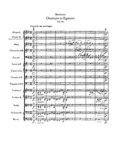 Egmont, Op.84: abertura by Ludwig van Beethoven
