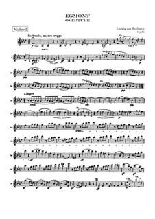 Egmont, Op.84: abertura - violinos parte I by Ludwig van Beethoven