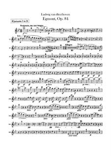 Egmont, Op.84: abertura - parte clarinetes by Ludwig van Beethoven