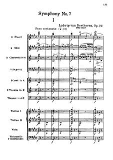 Movement I: partitura completa by Ludwig van Beethoven