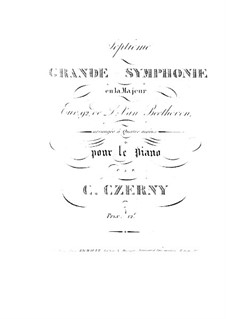 Complete Symphony: Version for piano four hands by C. Czerny by Ludwig van Beethoven