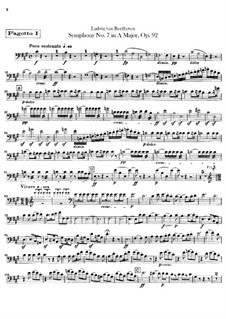 Complete Symphony: parte fagotes by Ludwig van Beethoven