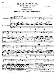 Der Blumenkranz (The Garland), WoO 7: Der Blumenkranz (The Garland) by Felix Mendelssohn-Bartholdy