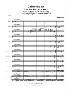 No.6 Chinese Dance: For flute choir by Pyotr Tchaikovsky