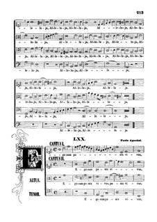 Ego sum panis vivus: partituras de vocais by Paolo Agostini