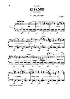 Espagne (Souvenirs): para um único musico (Editado por H. Bulow) by Isaac Albéniz