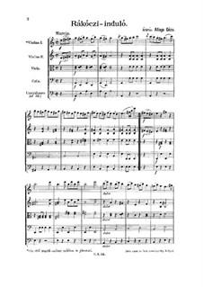 Rákóczi induló for Strings: partitura completa by Géza Allaga