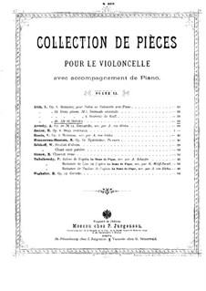 Air and Gavotte for Cello and Piano, Op.26: Score by Ladislas Aloïz