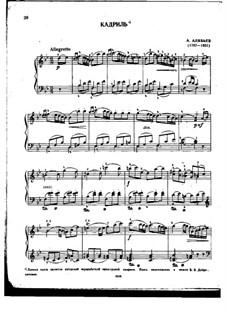 Quadrille in B Flat Major: Quadrille in B Flat Major by Alexander Alyabyev