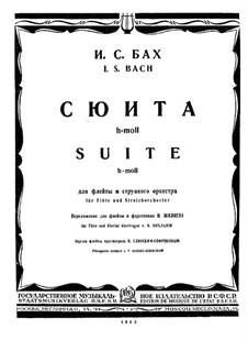 Orchestral Suite No.2 in B Minor, BWV 1067: para flauta e piano by Johann Sebastian Bach