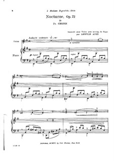 Nocturne in E Minor, Op. posth.72 No.1: para violino by Frédéric Chopin