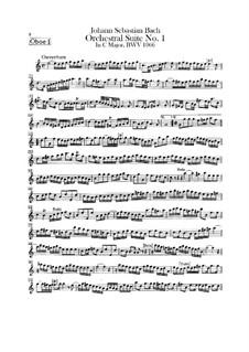 Orchestral Suite No.1 in C Major, BWV 1066: Oboe parte I by Johann Sebastian Bach