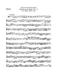 Orchestral Suite No.1 in C Major, BWV 1066: parte viola by Johann Sebastian Bach