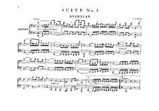 Orchestral Suite No.1 in C Major, BWV 1066: arranjos para pianos de quatro mãos - partes by Johann Sebastian Bach