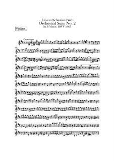 Orchestral Suite No.2 in B Minor, BWV 1067: violino parte I by Johann Sebastian Bach