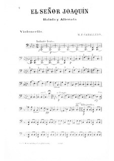 El Señor Joaquín: parte violoncelo by Manuel Fernández Caballero