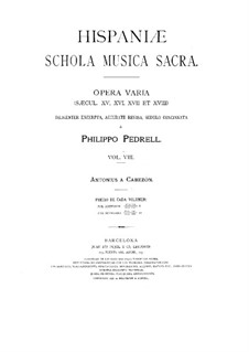 Hispaniae schola musica sacra: Volume VIII by Antonio de Cabezón