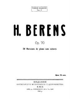 Fifty Piano Pieces for First Beginners, Op.70: todas as peças by Johann Hermann Berens