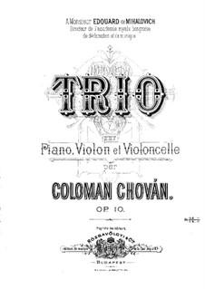 Piano Trio in F Minor, Op.10: Partitura completa by Coloman Chován