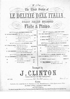 Don Pasquale: Come gentil' and 'La morale in tutto, for Flute and Piano by Gaetano Donizetti