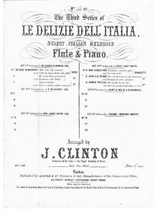 Don Sebastiano: O lisbono, o patria mia and In terra sola, for Flute and Piano by Gaetano Donizetti