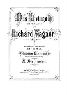 The Rhine Gold, WWV 86a: Partitura Piano-vocal by Richard Wagner