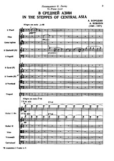 In the Steppes of Central Asia: partitura completa by Alexander Borodin