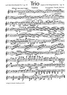 String Sextet No.1 in B Flat Major, Op.18: versão para trio de piano  - parte violinos by Johannes Brahms