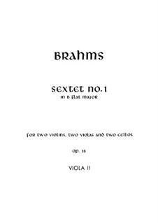 String Sextet No.1 in B Flat Major, Op.18: viola parte II by Johannes Brahms