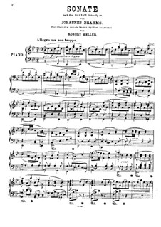String Sextet No.1 in B Flat Major, Op.18: versão para piano by Johannes Brahms