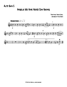 Angels We Have Heard Can Swing: For saxophone quartet – alto sax 2 part by folklore