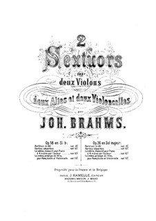 String Sextet No.2 in G Major, Op.36: viola parte II by Johannes Brahms