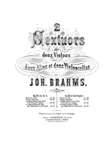 String Sextet No.2 in G Major, Op.36: violoncelo parte I by Johannes Brahms