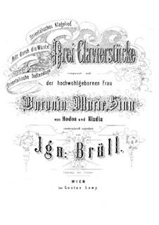 Three Piano Pieces, Op.3: peças de três pianos by Ignaz Brüll